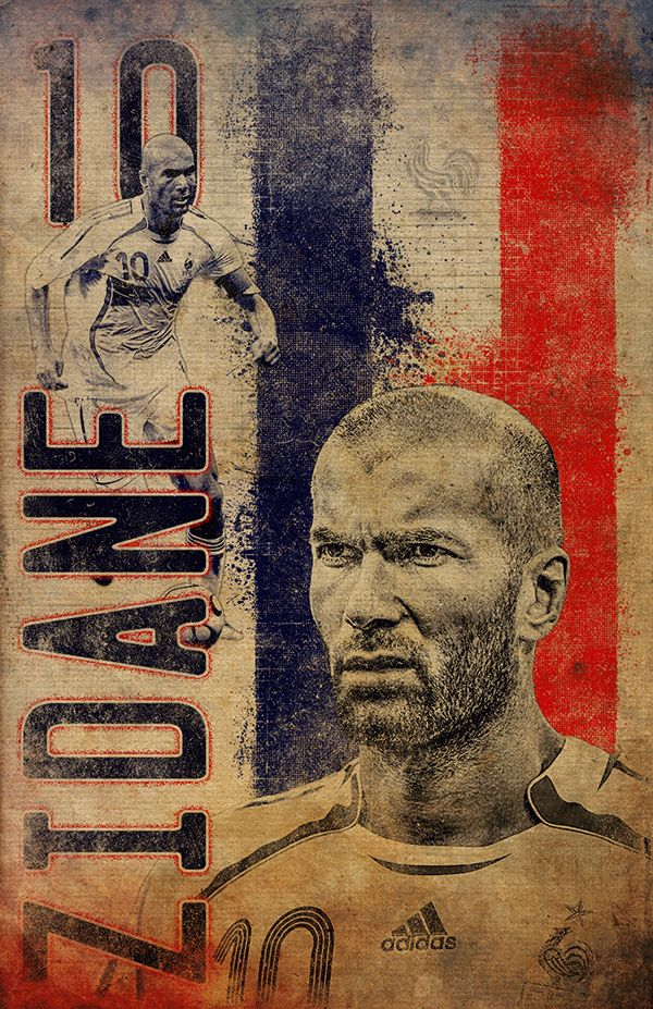 Zidane - Soccer Greats on Behance