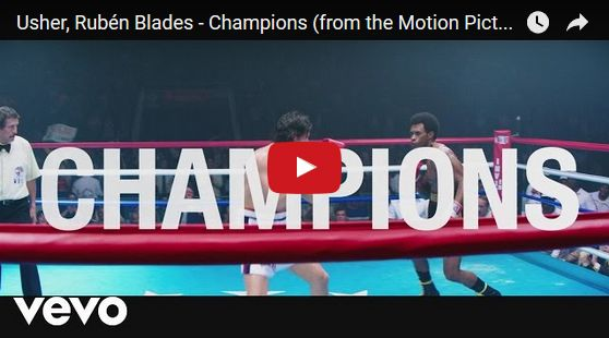 """Watch: Usher, Rubén Blades - Champions (from the Motion Picture """"Hands Of Stone"""") See lyrics here: http://usher-lyric.blogspot.com/2017/04/champions-lyrics-usher-feat-ruben-blades.html #lyricsdome"""