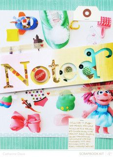 Noted: Her Stuff by Catherine Davis at @Studio Calico. Made with the July Valley High Scrapbooking Kits.