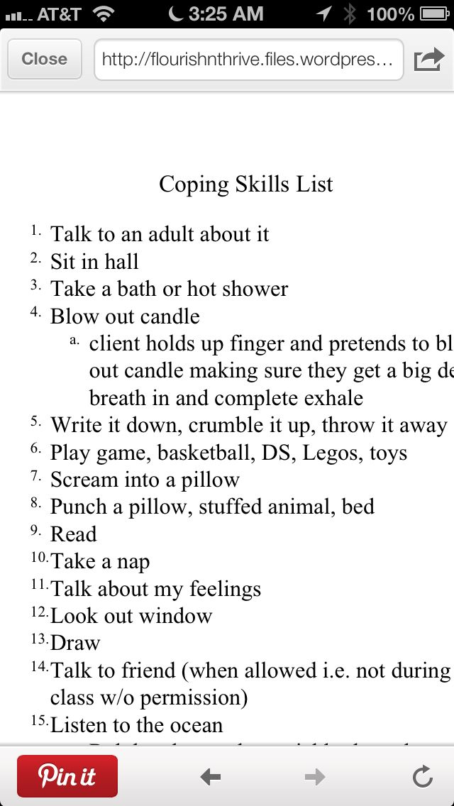 61 best Coping skills images on Pinterest Projects, School and A - skills list