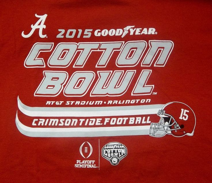 2015 University of Alabama Cotton Bowl Playoff Semi-Final T-Shirt Adult M Medium #AlabamaCrimsonTide