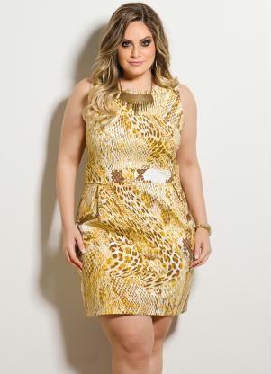 vestidos de madrinha plus size amarelo 10