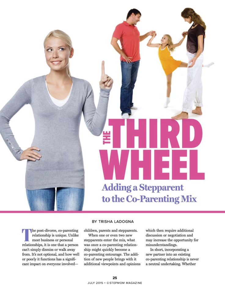 As a stepmum your value doesn't decrease just because someone can't see your worth. Find our advice on adding a stepparent to the 'co-parenting mix' in the July 2015 issue of StepMom Magazine.