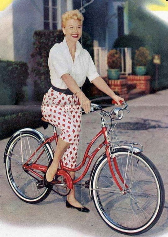 Vintage Schwinn Bike Ad with DORIS DAY !