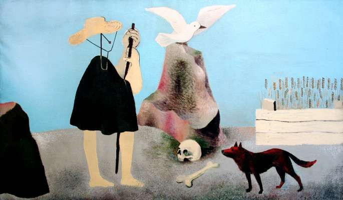 Alois Wachsman (1898 - 1942), Pasacek (Herdsboy), 1931, oil on canvas. Czech painter,stage designer and architect. Cubism, surrealism.