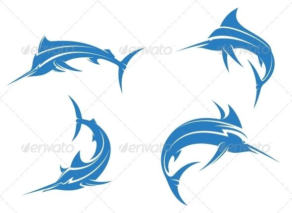 Big Blue Marlins #GraphicRiver Big blue marlins with sharp nose isolated on white background for fishing sport design. Editable EPS8 (you can use any of your vector program) and JPEG (can edit in any graphic editor) files are included SPORTS MASCOTS MEDICINE FOOD LABELS WEDDING DESIGN ELEMENTS FLORAL OBJECTS WEB ICONS ANIMALS Created: 5July13 GraphicsFilesIncluded: JPGImage #VectorEPS Layered: No MinimumAdobeCSVersion: CS Tags: animal #badge #beautiful #big #bill #blue #cartoon #catch…
