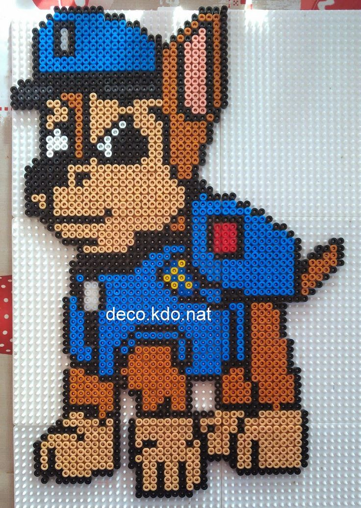 deco kdo nat perles hama chace de la pat 39 patrouille paw patrol perler beads pinterest. Black Bedroom Furniture Sets. Home Design Ideas