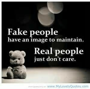 So over fake people