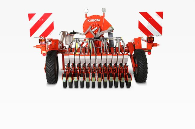 The VP Series seed drill for a large variety of natural, coated or pelleted seeds like, onion, cabbage, spinach, carrot, asparagus and many other types of vegetable, as well as medicinal herbs, flowers and trees. Know more at http://www.whitestractors.com.au/seeding-equipment.html  #kubotaseeddrill
