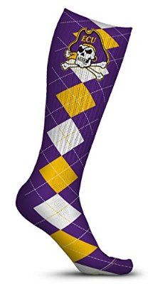 East Carolina University ECU Pirates Socks Argyle Design (pair)
