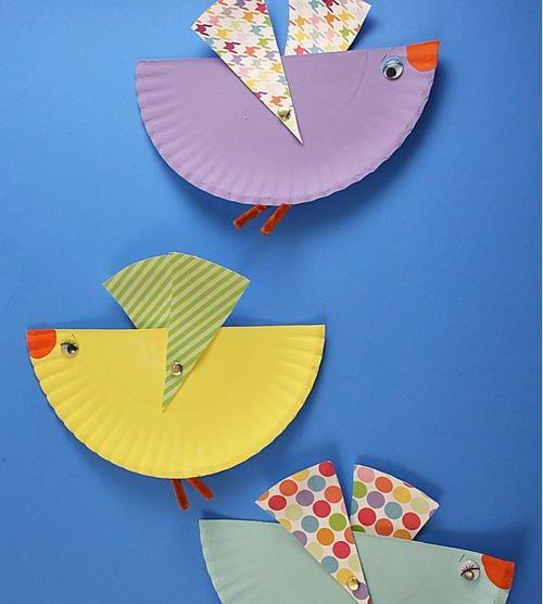 Flying Bird Paper Plate Art  sc 1 st  Pinterest & 41 best Paper Plate Crafts images on Pinterest | Crafts for kids ...