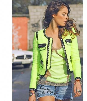 Fetiche Suances - tweet green lime