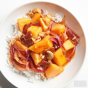 You've never seen cantaloupe like this! Savory ingredients like bacon, onion, and chili sauce take it from breakfast to dinner.