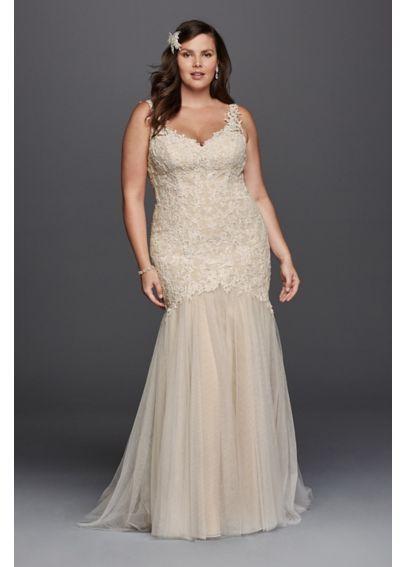 282 best plus size wedding dresses images on pinterest for Beaded trumpet wedding dress