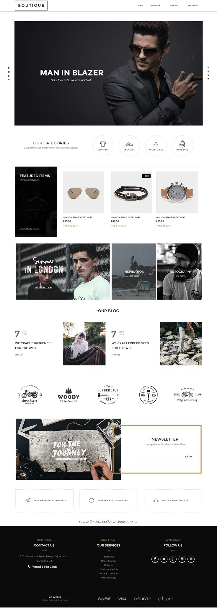 Boutique is a modern, clean and professional Muse Template for multipurpose eCommerce website. #adobe #musetemplate