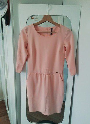 Kup mój przedmiot na #vintedpl http://www.vinted.pl/damska-odziez/krotkie-sukienki/16449158-cropp-sukienka-lososiowa-pudrowa-babka-kieszenie-dres-nowa-xs-s-urocza
