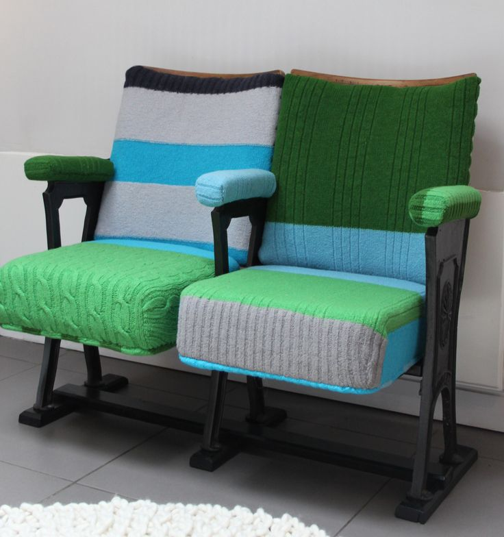 Amie. Knitted Vintage Cinema Seats