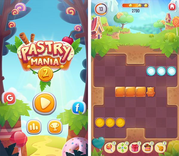 Image result for puzzle app user interface pastry mania