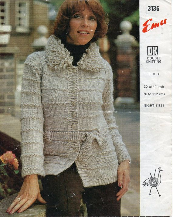 Knitting Pattern For Ladies Loopy Cardigan : 63 best Cream Coloured Wool Vintage Knitting Patterns images on Pinterest V...