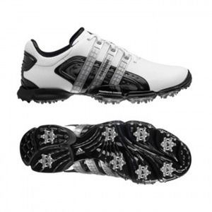 SALE - Mens Adidas Powerband Golf Cleats White - BUY Now ONLY $88.99
