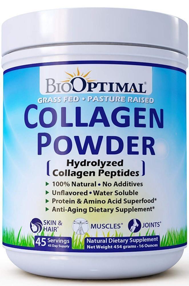 Biooptimal Collagen Peptides Powder Grass Fed Non Gmo Premium Quality With Images Collagen Powder Collagen Peptides Collagen Protein Powder