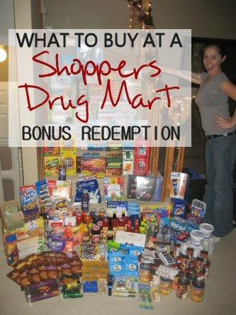 What to Buy at a Shoppers Drug Mart Bonus Redemption via MrsJanuary.com #frugal #savemoney