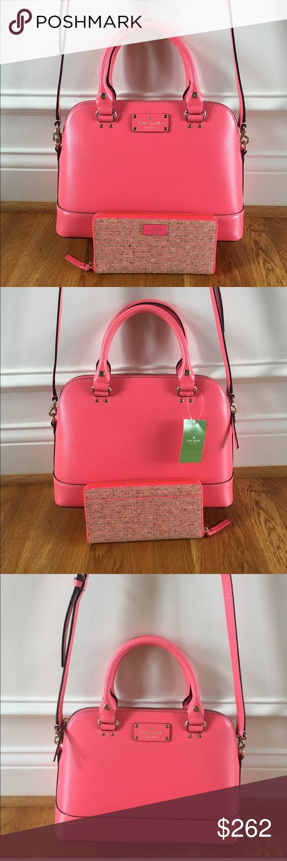 ❗️BUNDLE SALE❗️$516 Kate Sapde New with tags $328 Kate Spade small Rachelle wellesley crossbody in flamingo// brand new, perfect condition, never worn before. New with tags $188 Kate Spade Lacey wallet in arbor way in ntl/flognm// brand new, perfect condition, never worn before. kate spade Bags Crossbody Bags