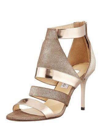 bae5dbfc9d www.jimmychoo.com, Jimmy Choo Berlin Metallic Sandal, Light Bronze -  Bergdorf Goodman, bride, bridal, wedding, wedding shoes, bridal shoes # JimmyChoo