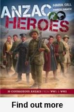 Winner of the 2016 Margaret Mahy Book of the Year Award, and the Elsie Locke Award for Non-Fiction. ANZAC Heroes by Maria Gill brings to life the triumphs and tragedies experienced by NZ and Australian soldiers and nurses during WW1 and WW2.  ANZAC Heroes provides a brilliant overview of the two World Wars, detailed maps, timelines and charts, as well as historical wartime photographs and lifelike illustrations. A very informative book for children and adults on WW1 and WW2. -Margaret.