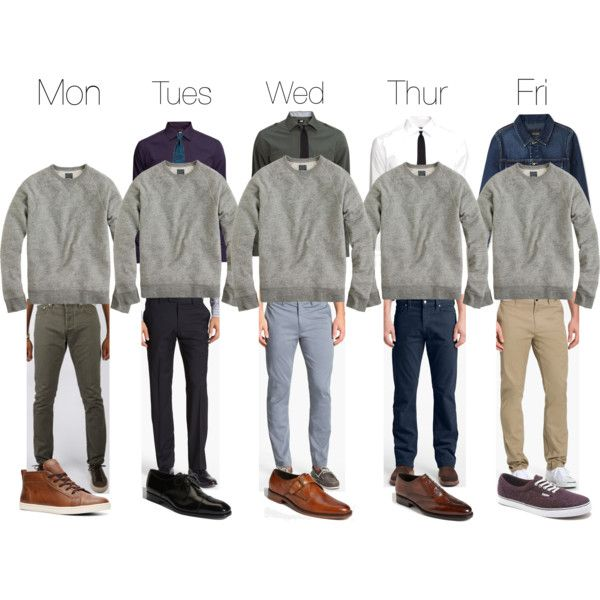 5 Days, 5 ways to wear the grey crew neck sweatshirt. Awesome to see hoodless sweatshirts making a comeback.: