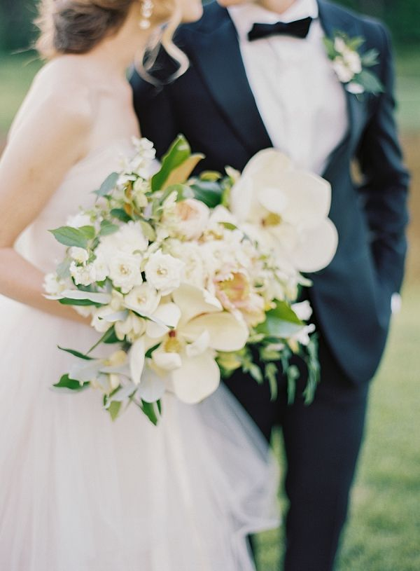 Gorgeous Magnolia Wedding Bouquet | Classic Wedding Inspiration By Rachel May Photography