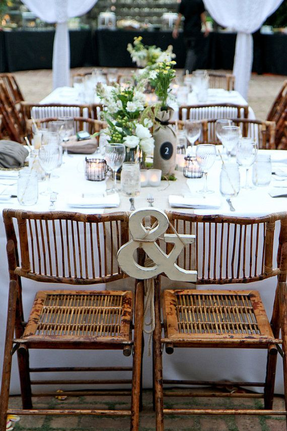 & sign chair decor for bride & groom