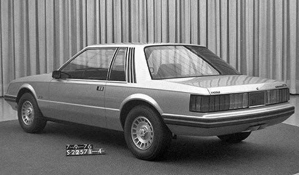 1979 Mustang - fiberglass styling buck dated 1976.07.13. Very close the the final design.