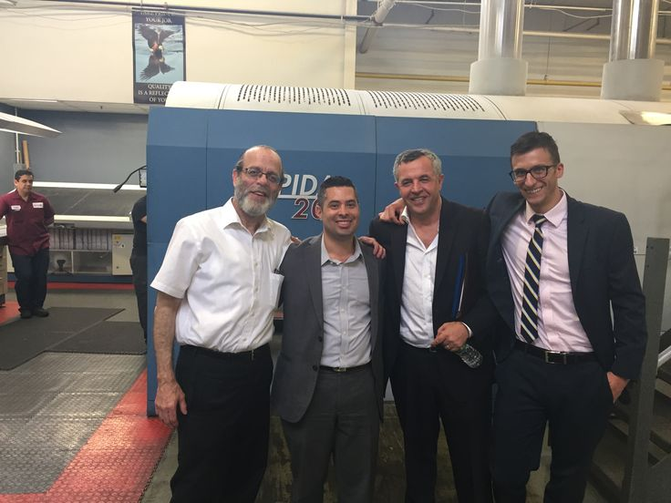 From left: Joe from Edison Litho in North Bergen, Matt Salmon, Yuri, Mike Kutzler; 7/27/2017 Met with Joe and his wife Susan and her brother George Gross