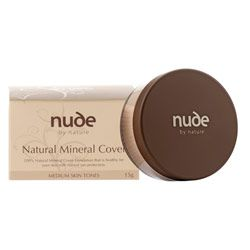 Nude by Nature Natural Mineral Cover $39.95. The game-changer in mineral makeup that had us all dazzled from the get-go. Wrote the book on how to create a makeup look so natural & flawless, it's virtually indistinguishable from skin while covering blemishes, birth marks & acne scars. The lack of harsh chemicals or irritants closed the deal, and we're still besotted.