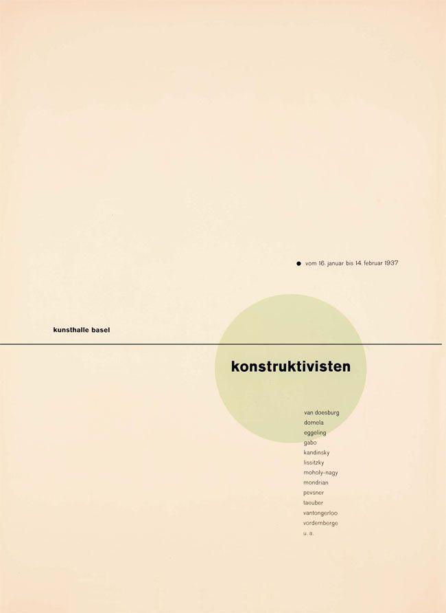 Constructivism poster - Jan Tschichold
