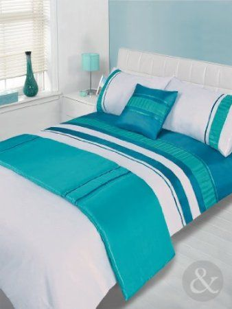 5pc luxury embroidered bed in a bag duvet cover set bedding quilt cover sets teal green. Black Bedroom Furniture Sets. Home Design Ideas
