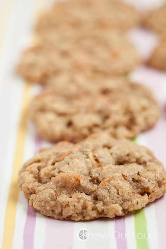 Oatmeal Butterscotch Cookies Recipe ~ chewy and soft