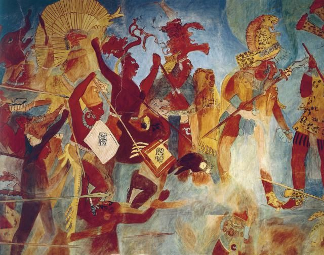Maya mural of bonampak room 2 the mural of the battle for Bonampak mural painting