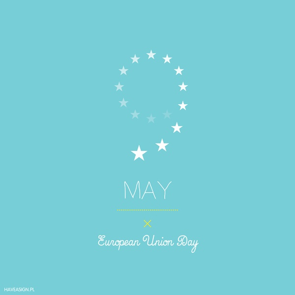 9th May - European Union Day  /// Dzień Unii Europejskiej / by haveasign via behance