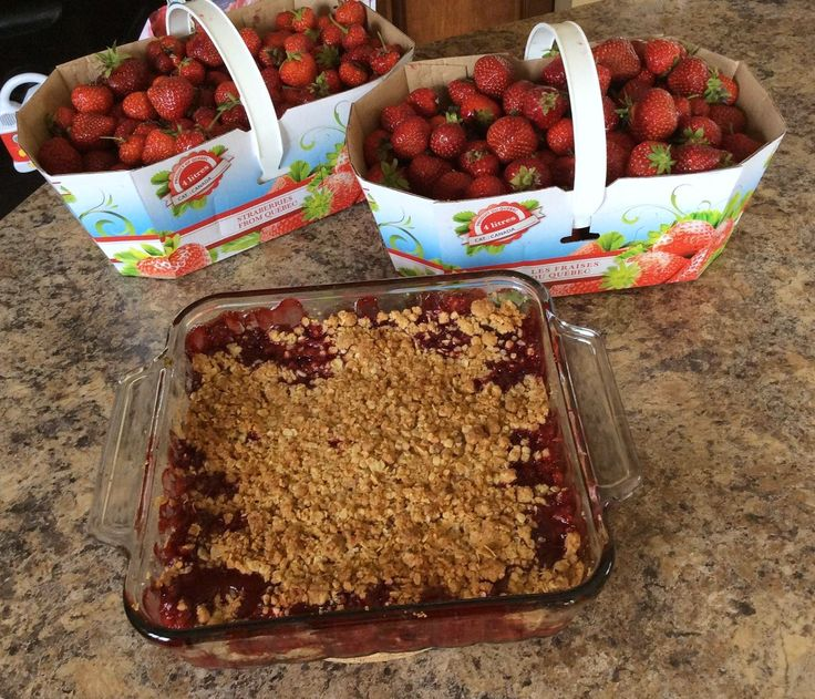 Croustade aux fruits #recettesduqc #dessert #fraises