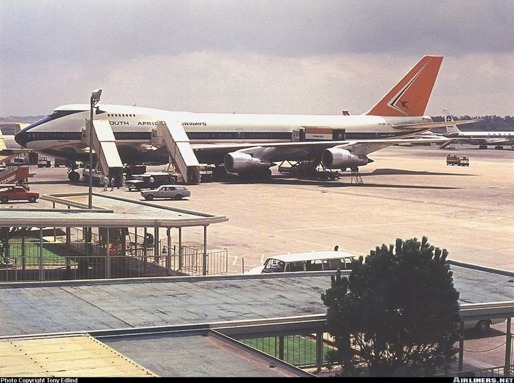 South African Airways Boeing 747-244B Jan Smuts airport March 1973