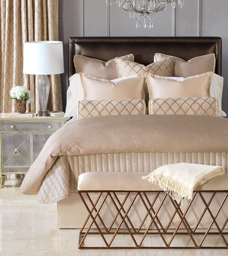 Luxury Bedding By Eastern Accents   Bardot Collection (oh And Check Out The  Adorable Side Table Too!