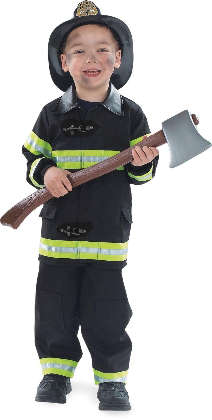 Firefighter costume - black