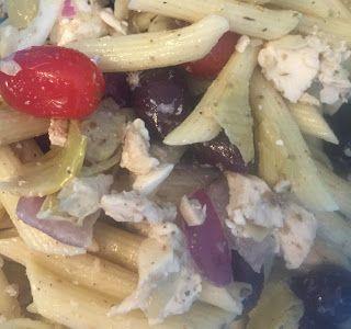 Costco Greek Pasta Salad Copycat Recipe- I crave this stuff it's so good!
