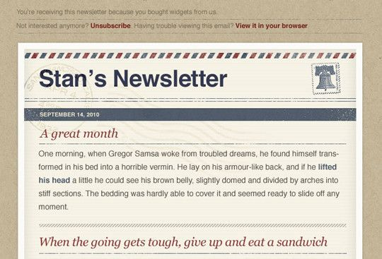 20 Free HTML Newsletter Templates