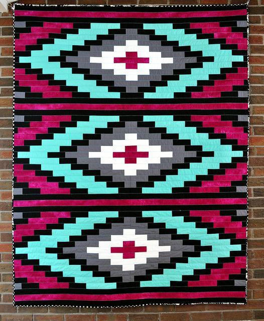 Pink Spanish Textile Quilt, via Flickr.