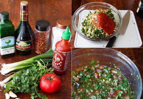 Making Chilean Pebre