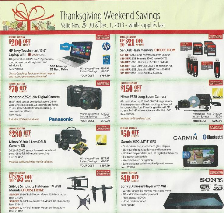 Black Friday Deals at Costco 2013 ad scan