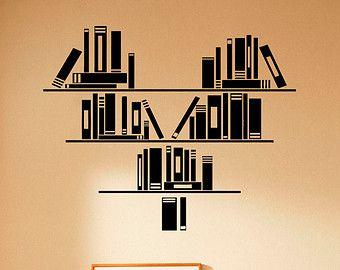 Decoración de la pared vinilo Decal buho libro por BestDecalsUSA